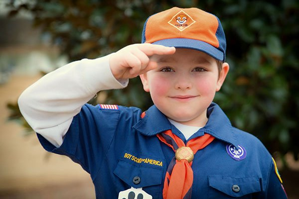 Cub Scout Saluting